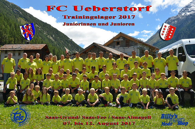 Juniorinnen- und Junioren- Trainingslager in Saas Grund vom 07. bis 12. August 2017
