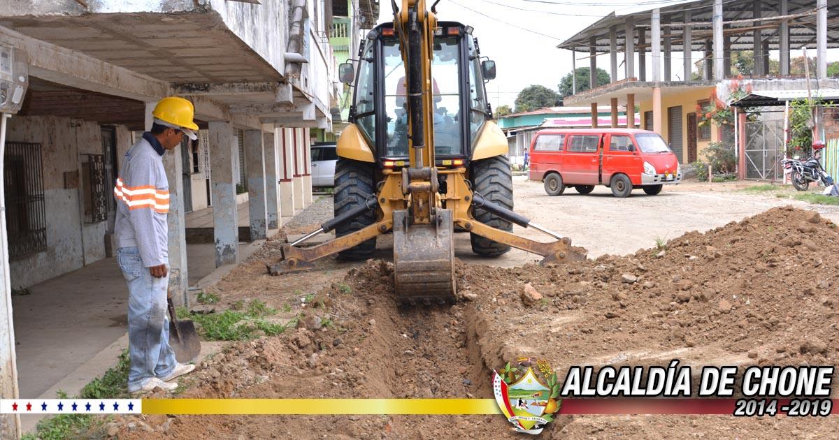 Iniciaron los trabajos en la calle Elías Cedeño Jerves