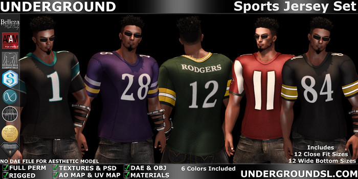 Sports Jersey Male - SecondLifeHub.com