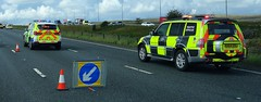 North Yorkshire Police and Highways England attend RTA M62