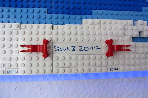 dirks LEGO world map 20 decoration signature