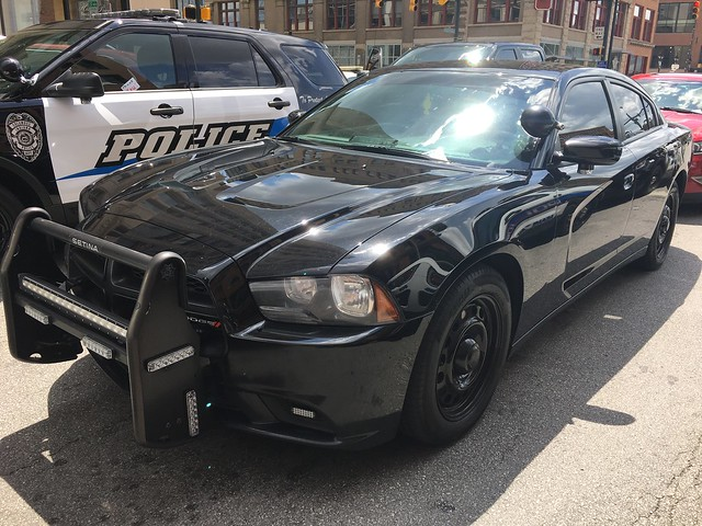 Unmarked Dodge Charger With Rambar