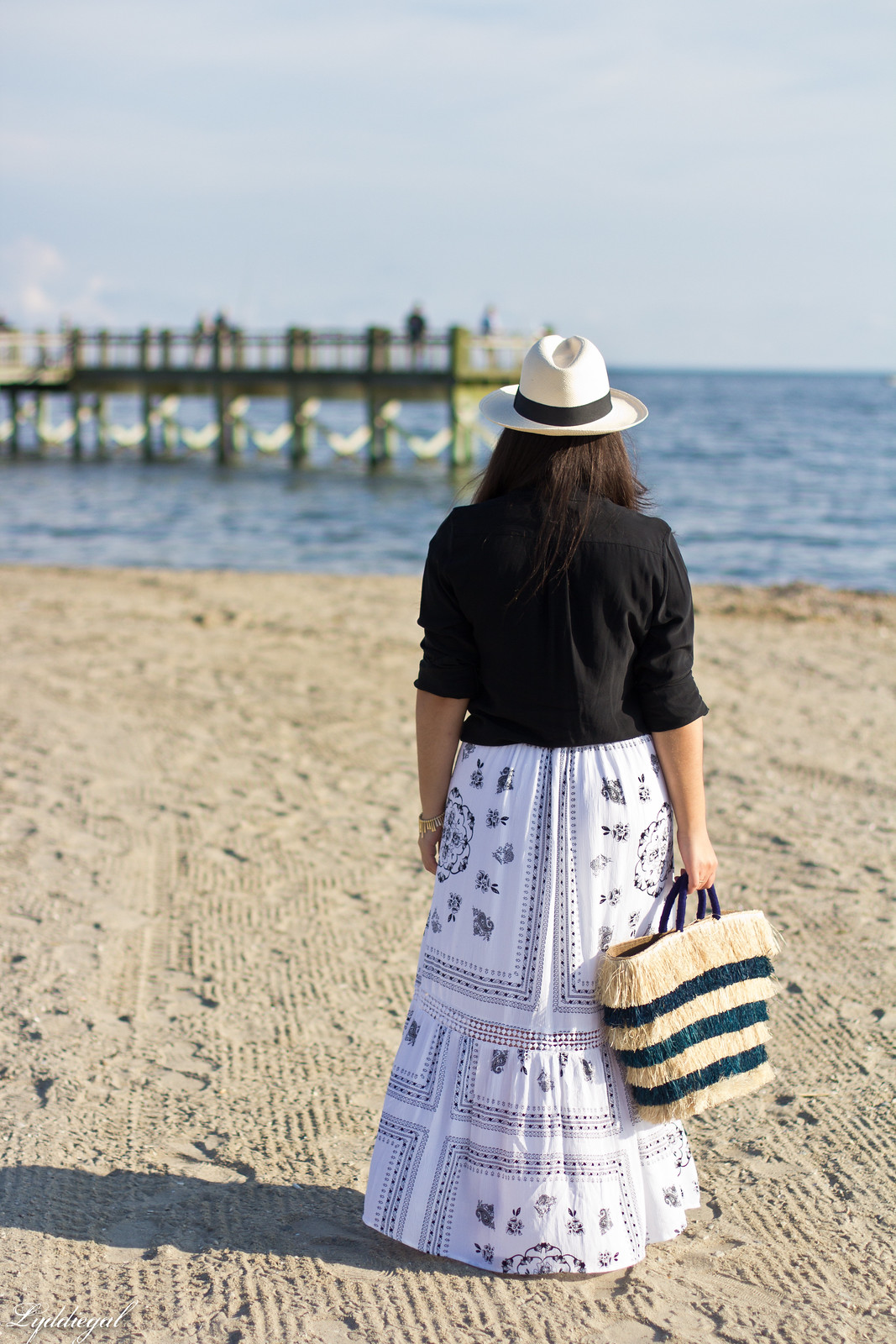black button down, bohemian maxi skirt, kayu pinata tote-1.jpg