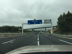 First road signs to Spain