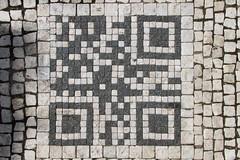 Prague sidewalk mosaic