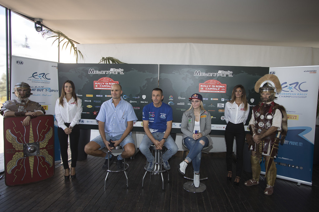 Pre event press conference during the 2017 European Rally Championship ERC Rally di Roma Capitale,  from september 15 to 17 , at Fiuggi, Italia - Photo Gregory Lenormand / DPPI