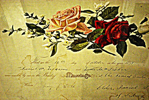 Dan and Lowerta Marriage Certificate