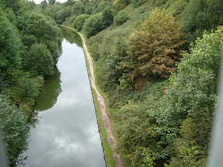 The canal at Smethwick Galton Bridge, seen from above