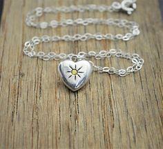 Silver Heart Necklac