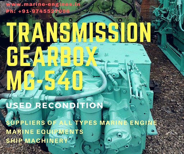 Twin Disc, Transmission, gearbox, MG-540, reduction, ratio, 5.17:1, used, recondiiton, second hand, ship transmission,