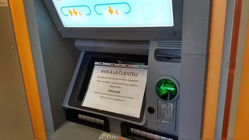 ATM not working, Brussels