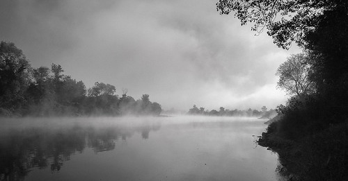 sava domovinskimost zagreb croatia morning fog foggymorning trees mirroring water