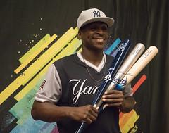 Sir Didi! Didi Gregorius poses with his #PlayersWeekend Louisville Slugger bats.