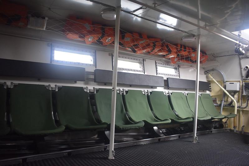 Inside military stridsbåt 90