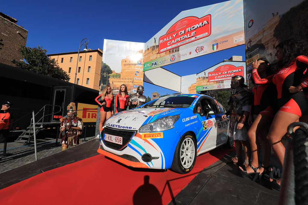 34  BEDORET Sebastien (BEL) WALBRECQ Thomas (BEL) Peugeot 208 R2 start during the 2017 European Rally Championship ERC Rally di Roma Capitale,  from september 15 to 17 , at Fiuggi, Italia - Photo Jorge Cunha / DPPI