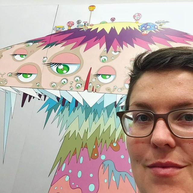 One is obligated to take this selfie at this exhibit, it seems. Super Nova by Takashi Murakami, from The Octopus Eats Its Own Leg exhibit at MCA. #latergram #mcachicago #murakami #theoctopuseatsitsownleg