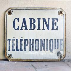 Plaque de cabine téléphonique - Photo of Sainte-Colombe-sur-Gand
