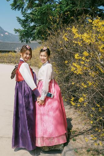 Sisters @ Gyeongbokgung Palace