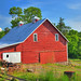 Rural Tennessee Red Barn