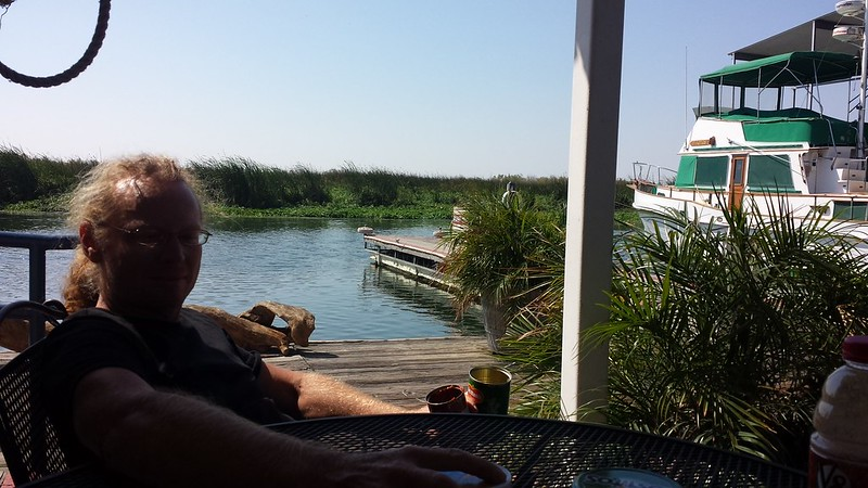 Lunch stop at a marina along the Delta Loop