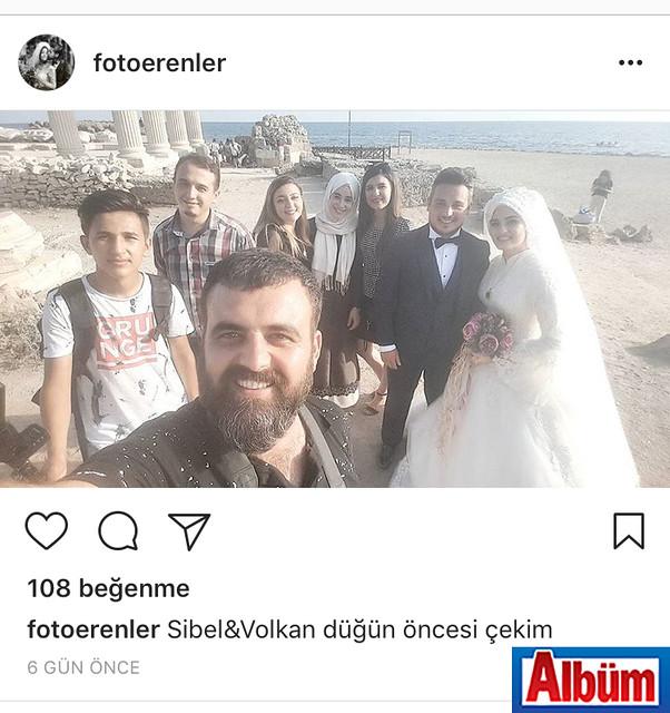 Foto Erenler sahibi Kadir Ersoy, Pınar ve Emrah çiftinin düğün çekimi arasında paylaştığı bu fotoğraf ile takipçilerini selamladı.
