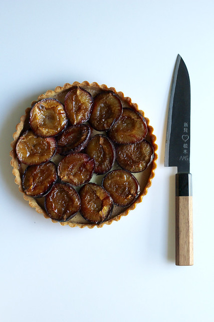 simplest plum tart