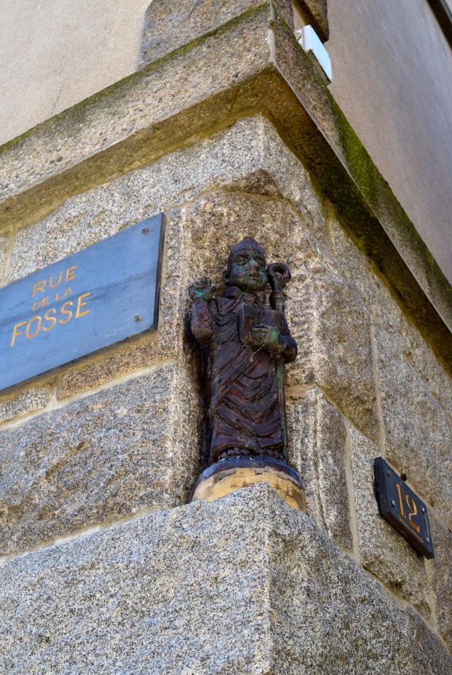 Street Corner Gargoyle in St. Malo | www.rachelphipps.com @rachelphipps