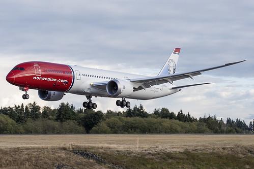Norwegian Boeing 787-9 N1012N