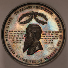 1871 Robinson medal in silver obverse