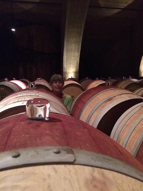 Mission Hill barrels with linda