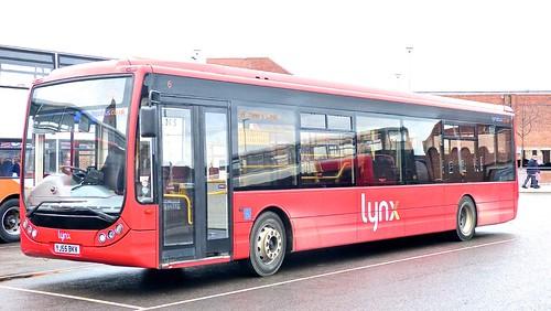 YJ55 BKV Lynx No. 6 Optare Tempo X1200 on 'Dennis Basford's railsroadsrunways.blogspot.co.uk
