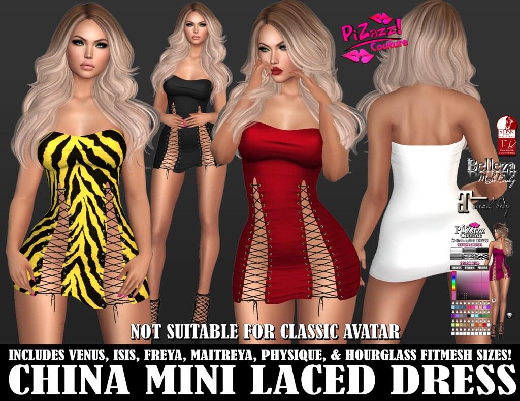 CHINA MINI LACED DRESS PIC