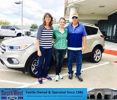 Congratulations The Staude on your #Ford #Escape from Faviola Pantoja at SouthWest Ford! by SouthWestFord