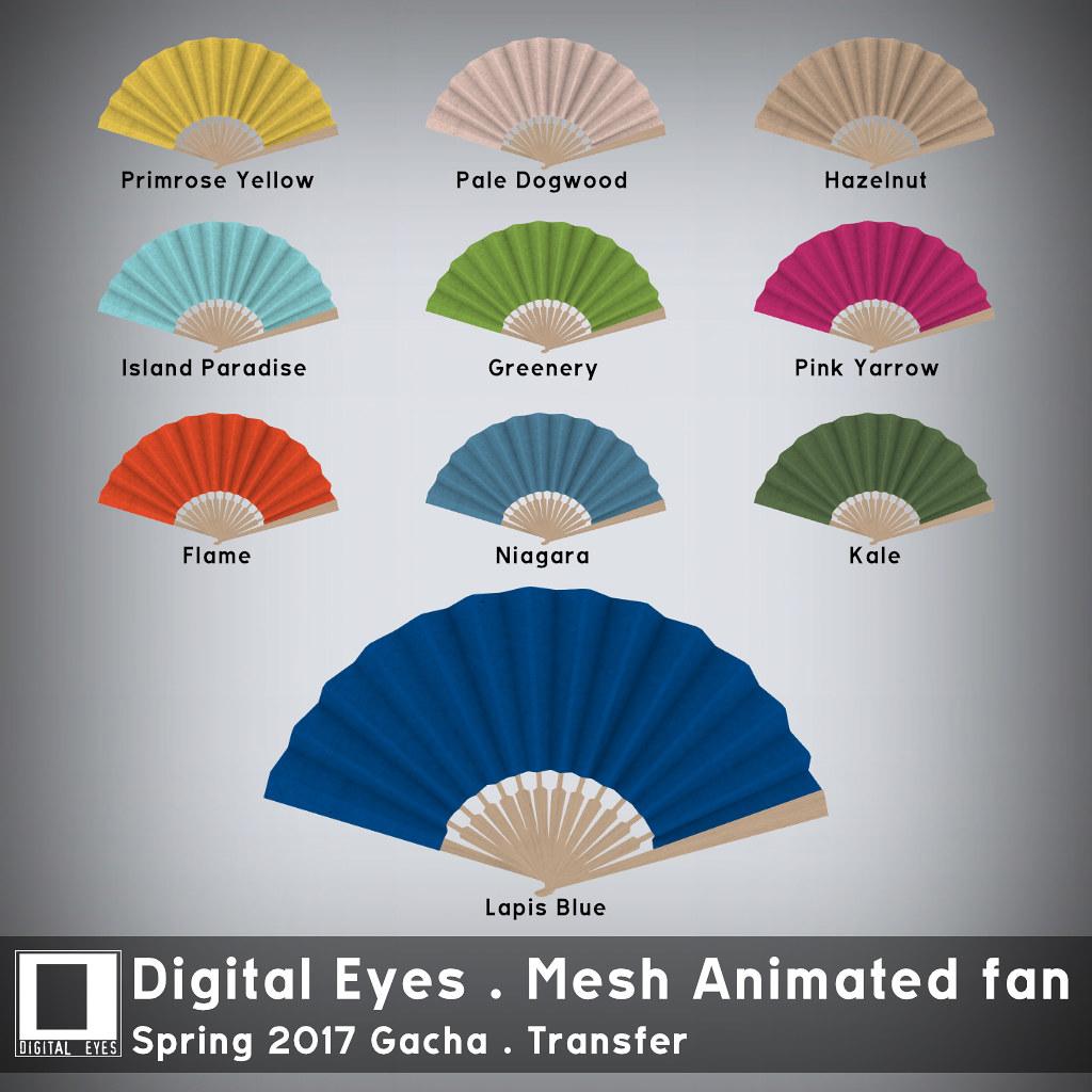 Digital Eyes - Mesh Animated Fan - Spring 2017 Gacha - SecondLifeHub.com