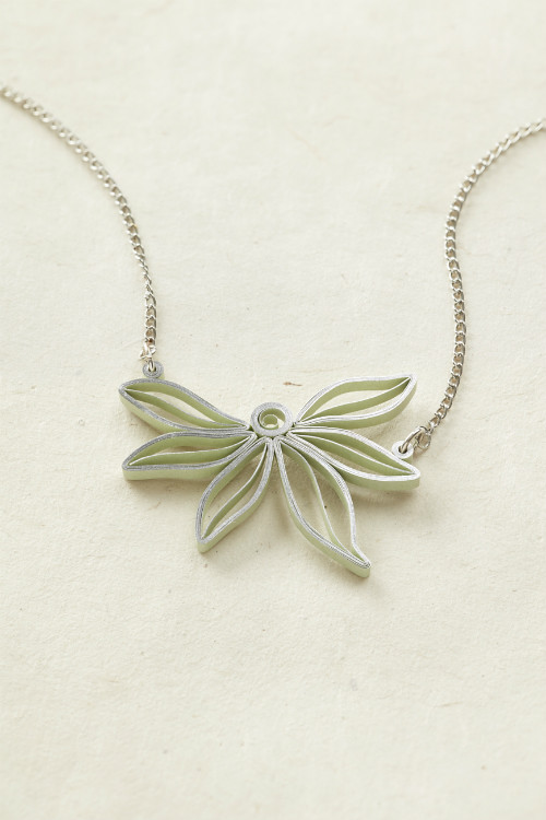 Quilled Abstract Flower Pendant