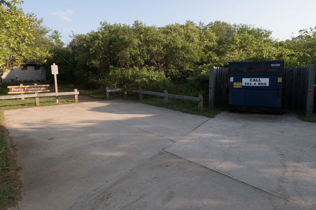 Dumpster access at first landing state park