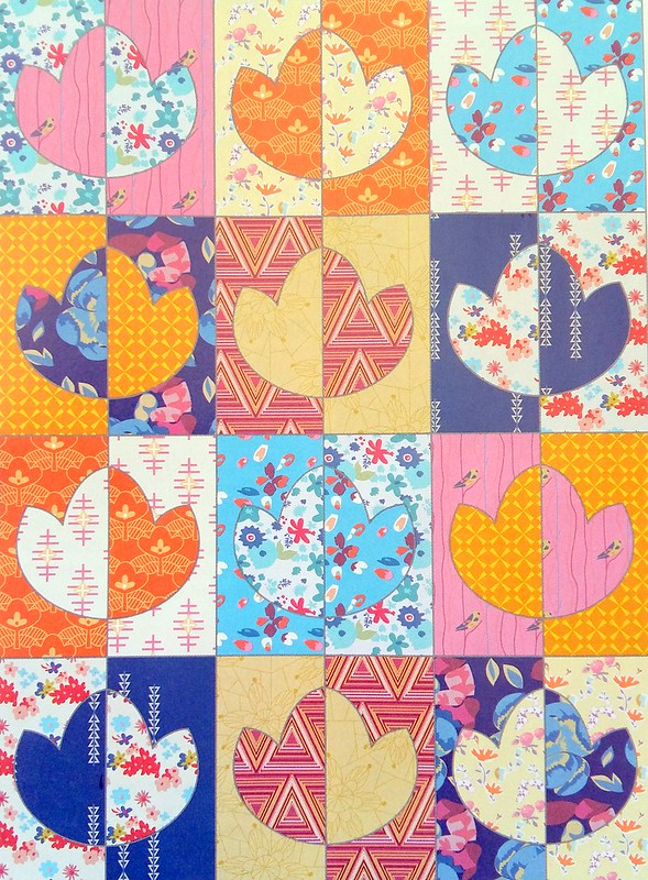 Lotus Flower Quilt (Popular Patchwork Aug17)