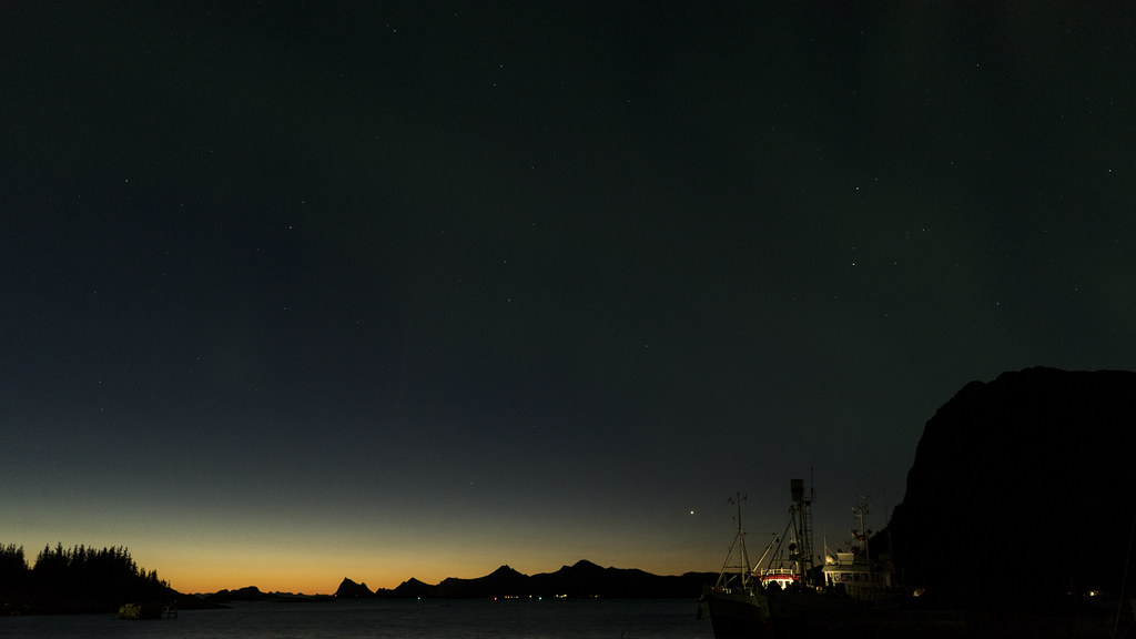 Dawn behind the Lofoten