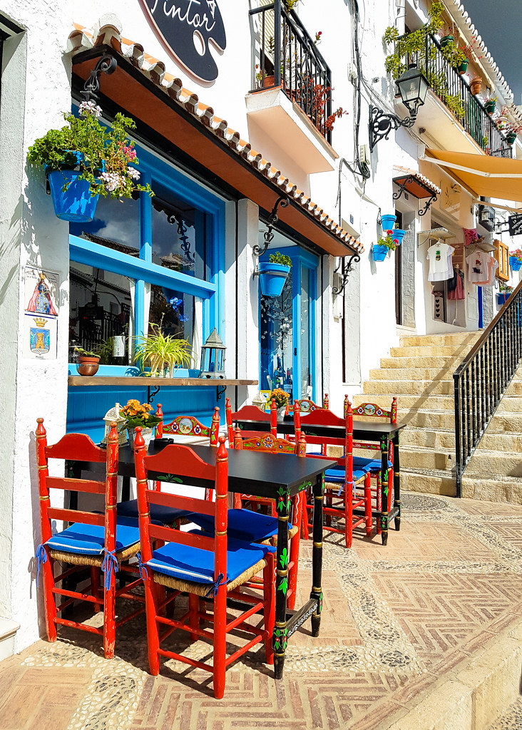 A coffee shop in Mijas Pueblo