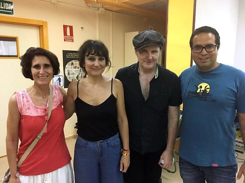 Con Eva y Juan