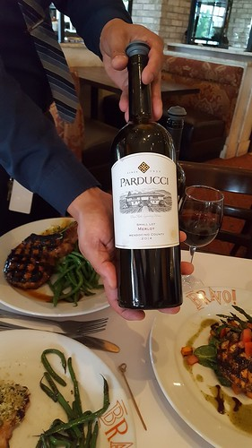 Wine pairing - Mendocino County's Parducci Small Lot Merlot, 2014. From #CelebrateBravo: Happy Birthday, Bravo! Cucina Italiana