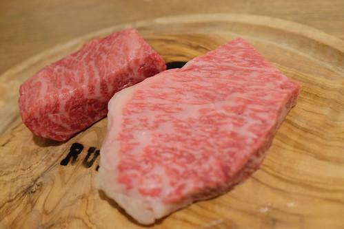 Matsusaka beef 赤身200gとサーロイン炙り100g