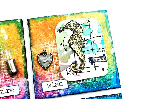 Meihsia Liu Simply Paper Crafts Mixed Media Mini Canvas Nautical Simon Says Stamp Tim Holtz 2