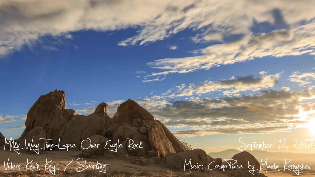 Eagle Rock Sunset & Milky Way Time-Lapse