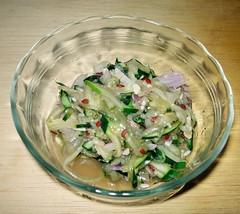 Three Cucumber Salads