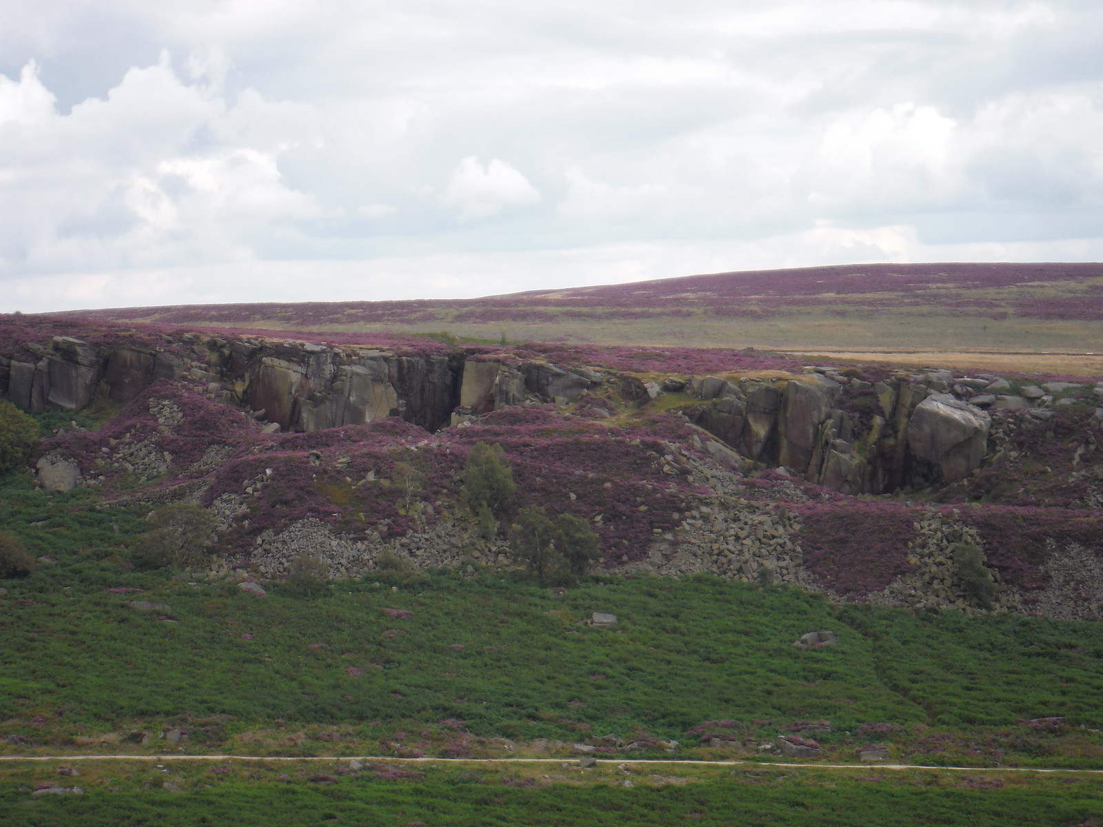 Burbage Rocks from near Carl Wark SWC Walk 266 - Sheffield to Bamford (via Burbage Rocks and Stanage Edge) or to Moscar Lodge [via Carl Wark and Higger Tor Alternative]