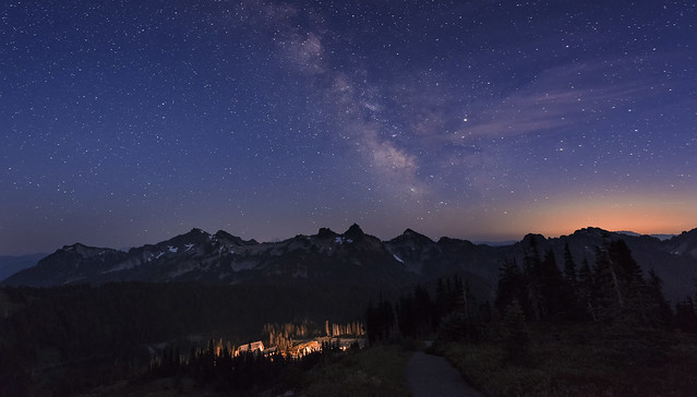 Night Sky in Mt Rainier 043