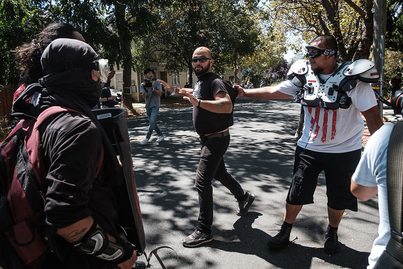Joey Gibson of Patriot Prayer. Photo: Pete Rosos