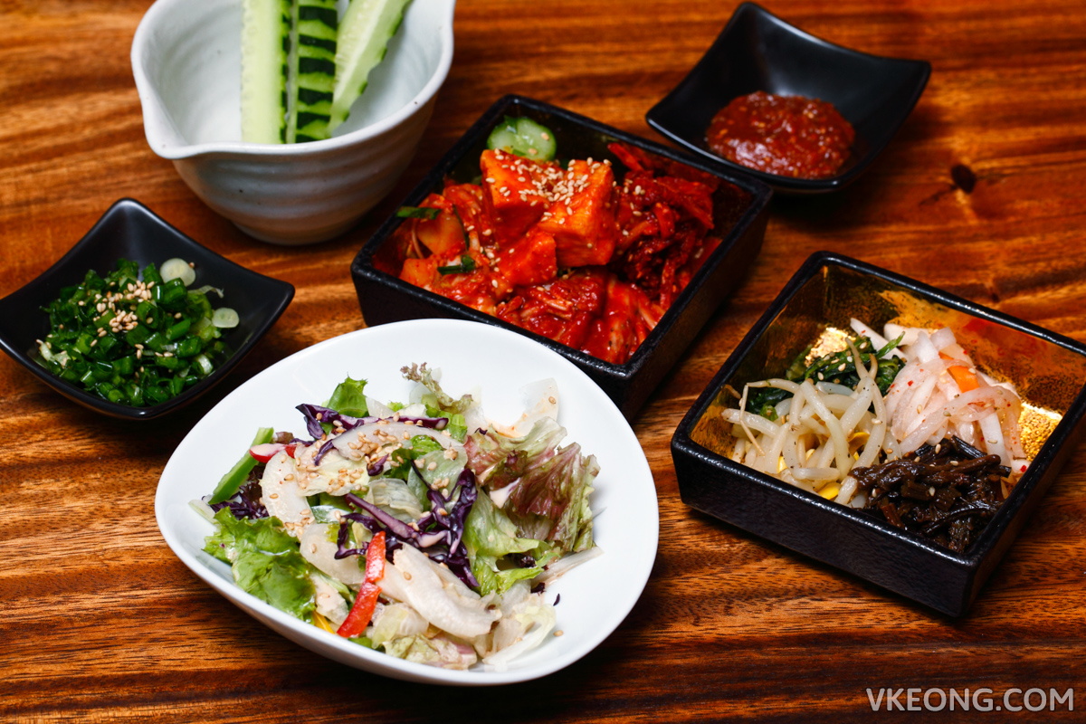 Yakiniku Toraji Premium Course Side Dishes