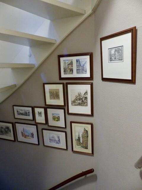 Fotolijstjes trapopgang